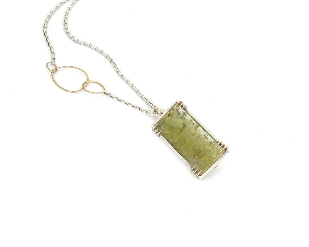 Chartreuse Beryl Vanity Necklace-Hannah Blount Jewelry