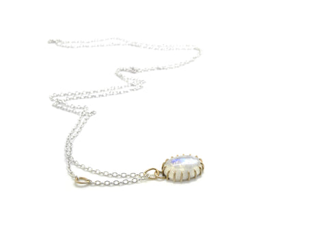 Spectral Moonstone Vanity Necklace-Hannah Blount Jewelry