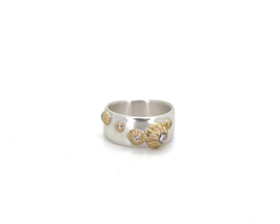 Barnacle Ruthie B. Band #22 With Diamonds-Hannah Blount Jewelry