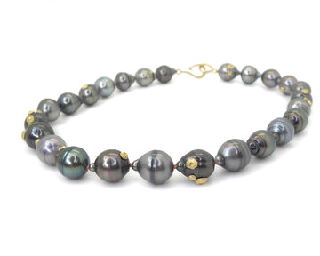 Tempest Tahitian Pearl Ruthie B. Necklace with Barnacles-Hannah Blount Jewelry