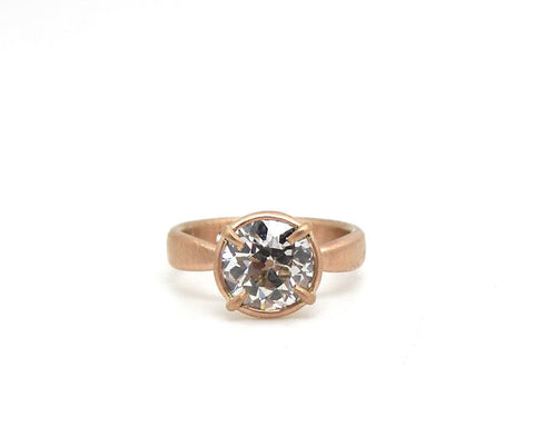 Custom Heirloom Diamond Anniversary Ring-Hannah Blount Jewelry