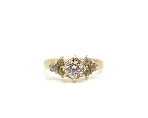 Custom Diamond Engagement Ring + Bands II-Hannah Blount Jewelry