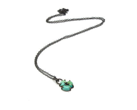 Kingman Turquoise Deco Vanity Necklace-Hannah Blount Jewelry