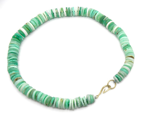 Knotted Chrysoprase Ruthie B. Necklace-Hannah Blount Jewelry