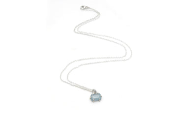 Aquamarine Prism Vanity Necklace-Hannah Blount Jewelry