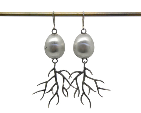 Egg and Branch Earrings-Hannah Blount Jewelry