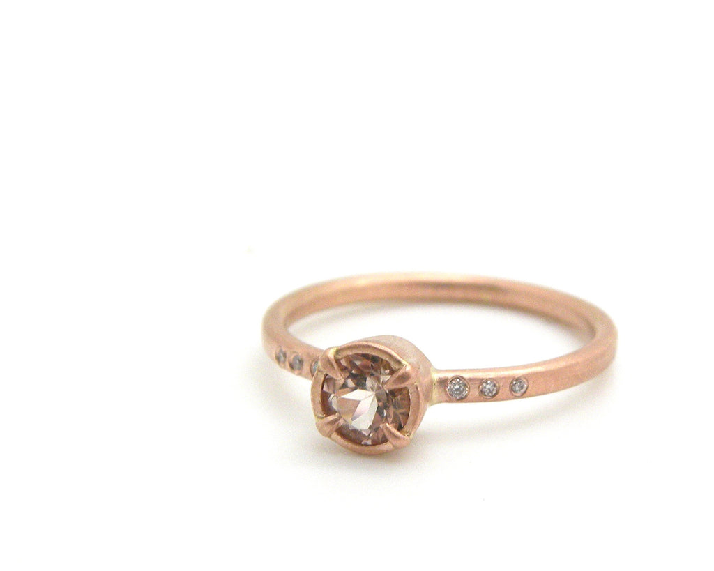 Custom Morganite Engament Ring-Hannah Blount Jewelry
