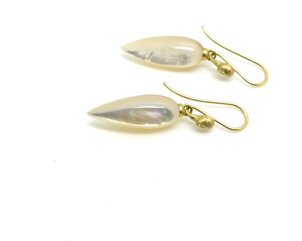Mother of Pearl Figurehead Cameo Earrings-Hannah Blount Jewelry