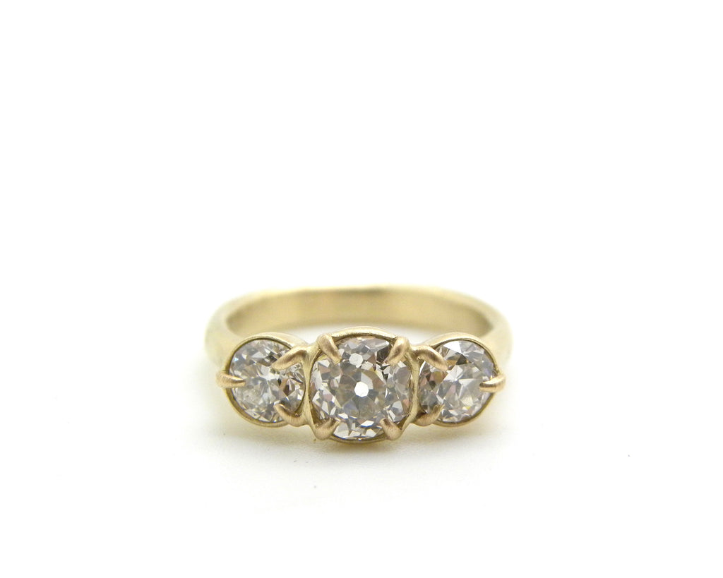Custom Diamond Engagement Ring + Bands I-Hannah Blount Jewelry