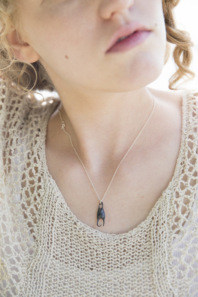 Little Skate Egg Case Necklace-Hannah Blount Jewelry