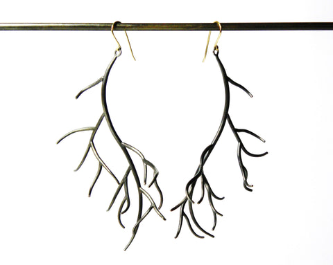 Extra Large Branch Earrings-Hannah Blount Jewelry