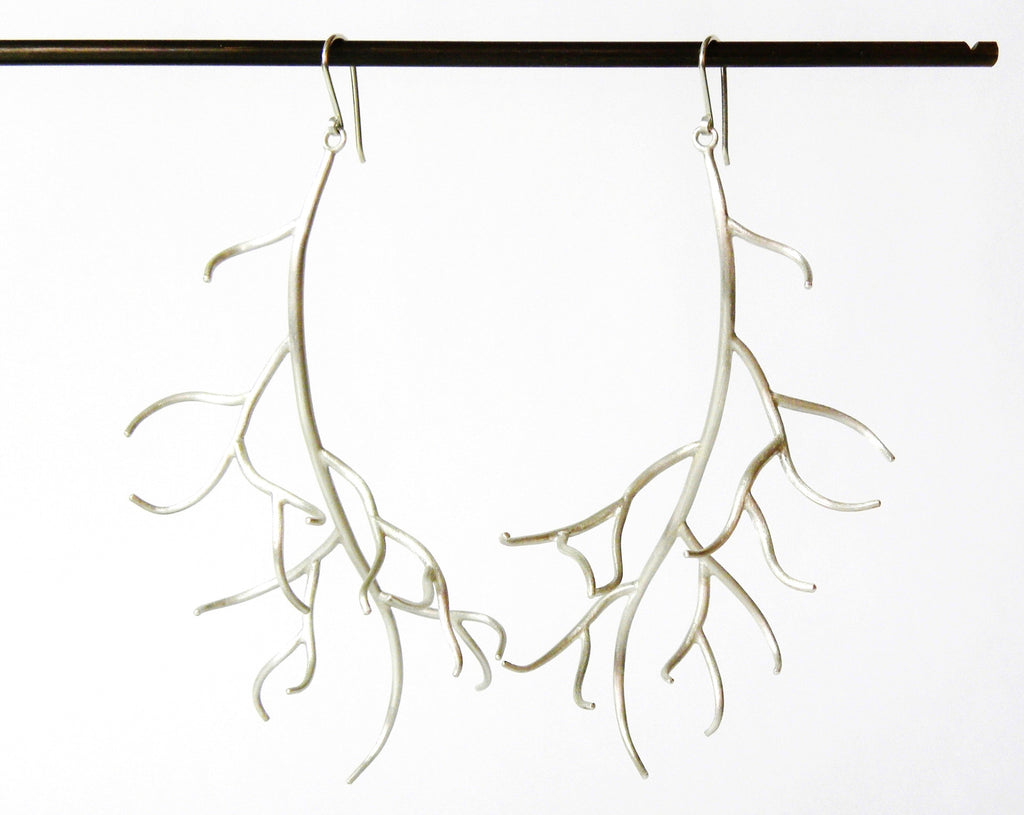 Extra Large Branch Waiting Earrings-Hannah Blount Jewelry
