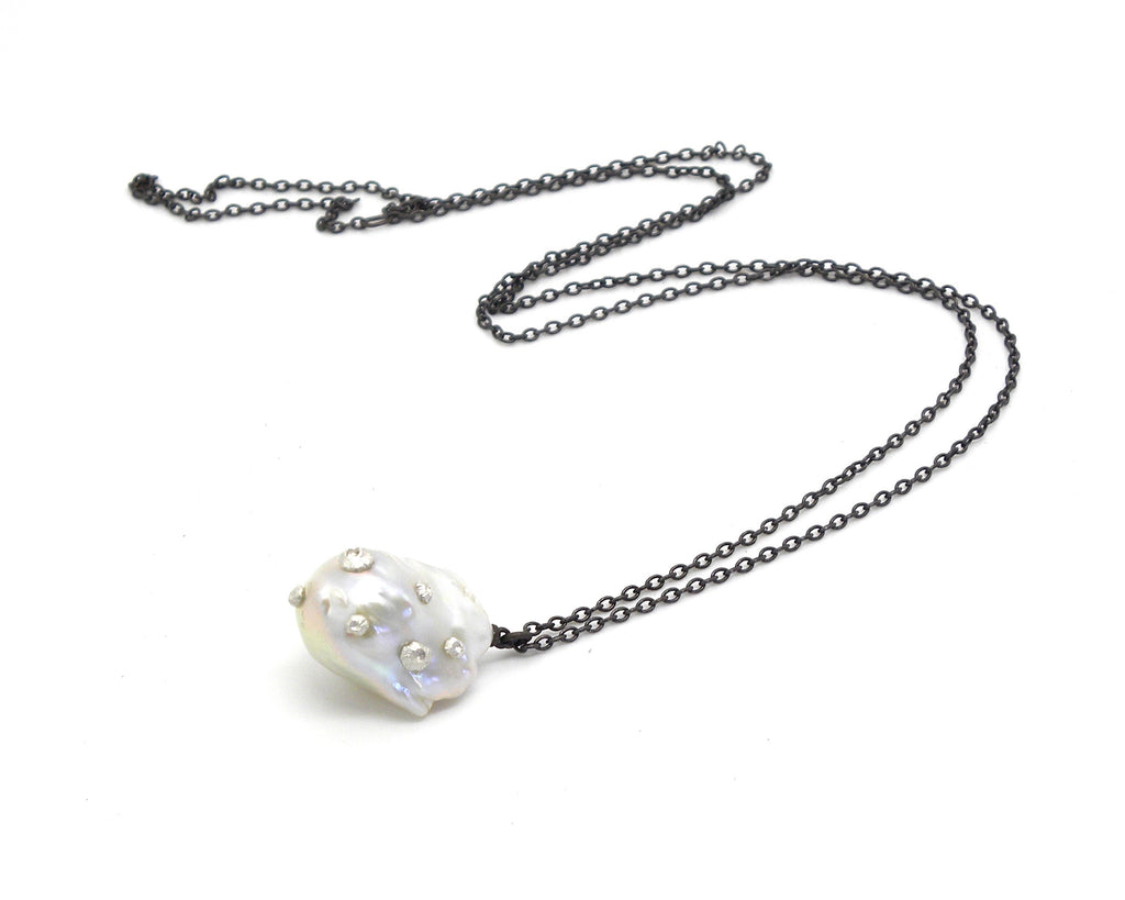 Extra Grand Baroque Pearl Ruthie B. Necklace with Barnacles-Hannah Blount Jewelry