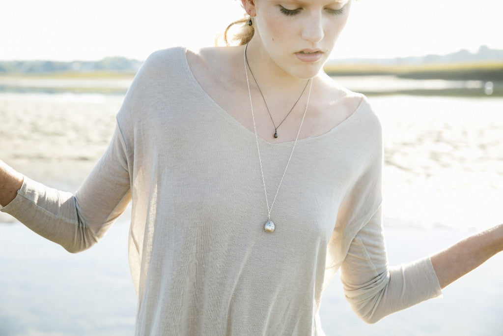 Speckled Egg Necklace-Hannah Blount Jewelry