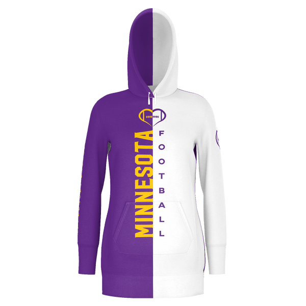 Minnesota White Football Hoodie Dress