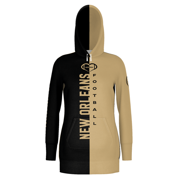 New Orleans Football Hoodie Dress