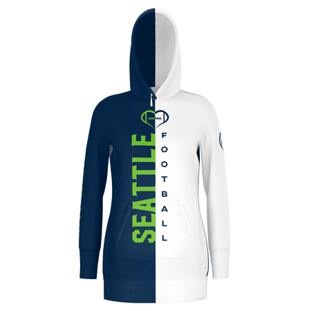 Seattle White Football Hoodie Dress