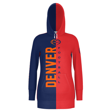 Denver Dark Football Hoodie Dress