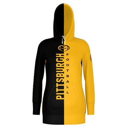 Pittsburgh Football Hoodie Dress
