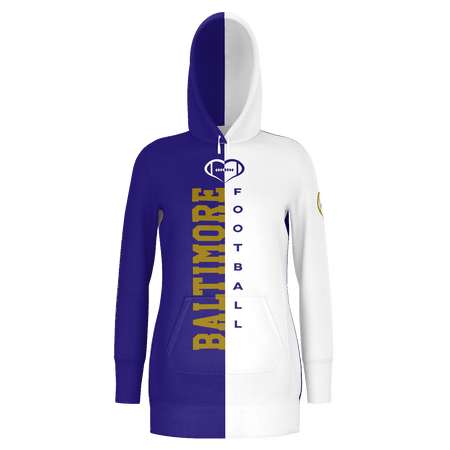 Baltimore Football Hoodie Dress