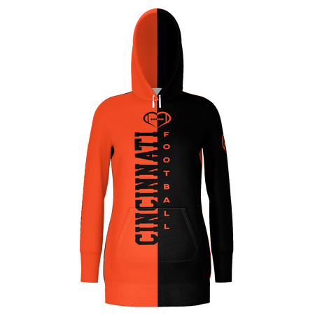 Cincinnati Football Hoodie Dress