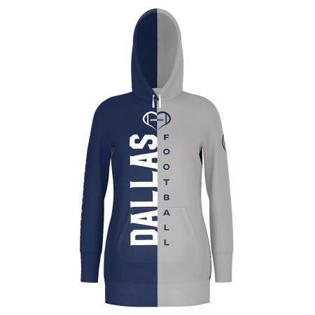 Dallas Dark Football Hoodie Dress