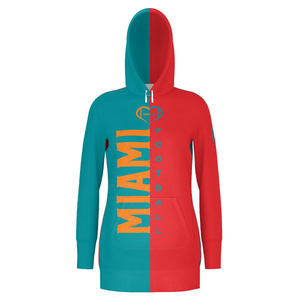 Miami Dark Football Hoodie Dress