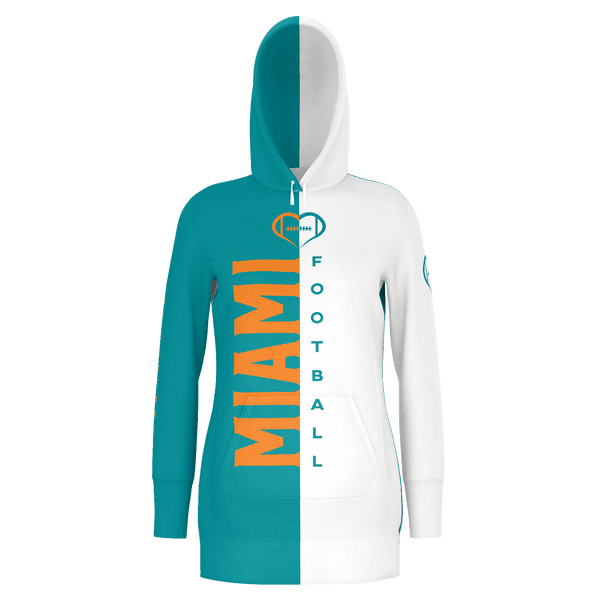 Miami Football Hoodie Dress