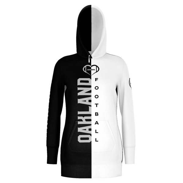 Oakland White Football Hoodie Dress
