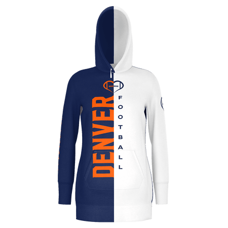 Denver White Football Hoodie Dress