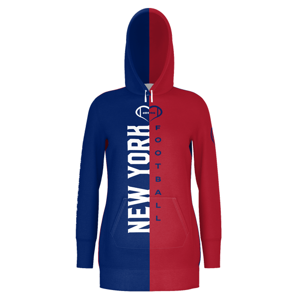 New York Football Hoodie Dress