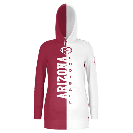 Arizona White Football Hoodie Dress