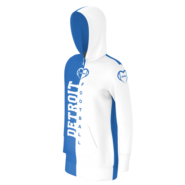 Detroit White Football Hoodie Dress