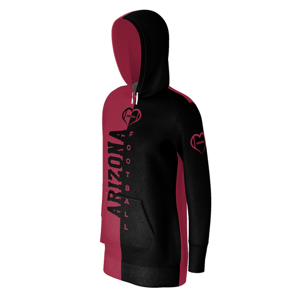 Arizona Dark Football Hoodie Dress