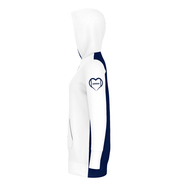 Chicago White Football Hoodie Dress