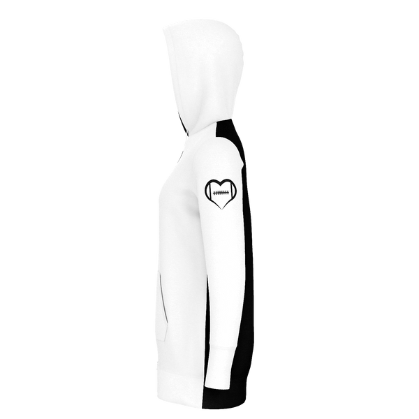 New Orleans White Football Hoodie Dress