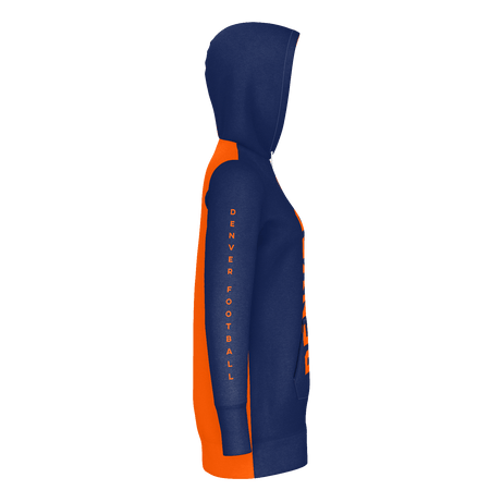 Denver Football Hoodie Dress (Right Side View)