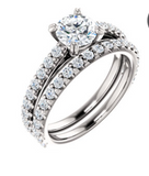 All Time Favorite Diamond Accent Engagement Ring