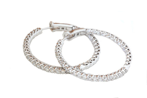 Diamond Classic Hoops