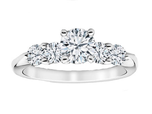 Bridal Set with Brilliant Cut Side Diamonds