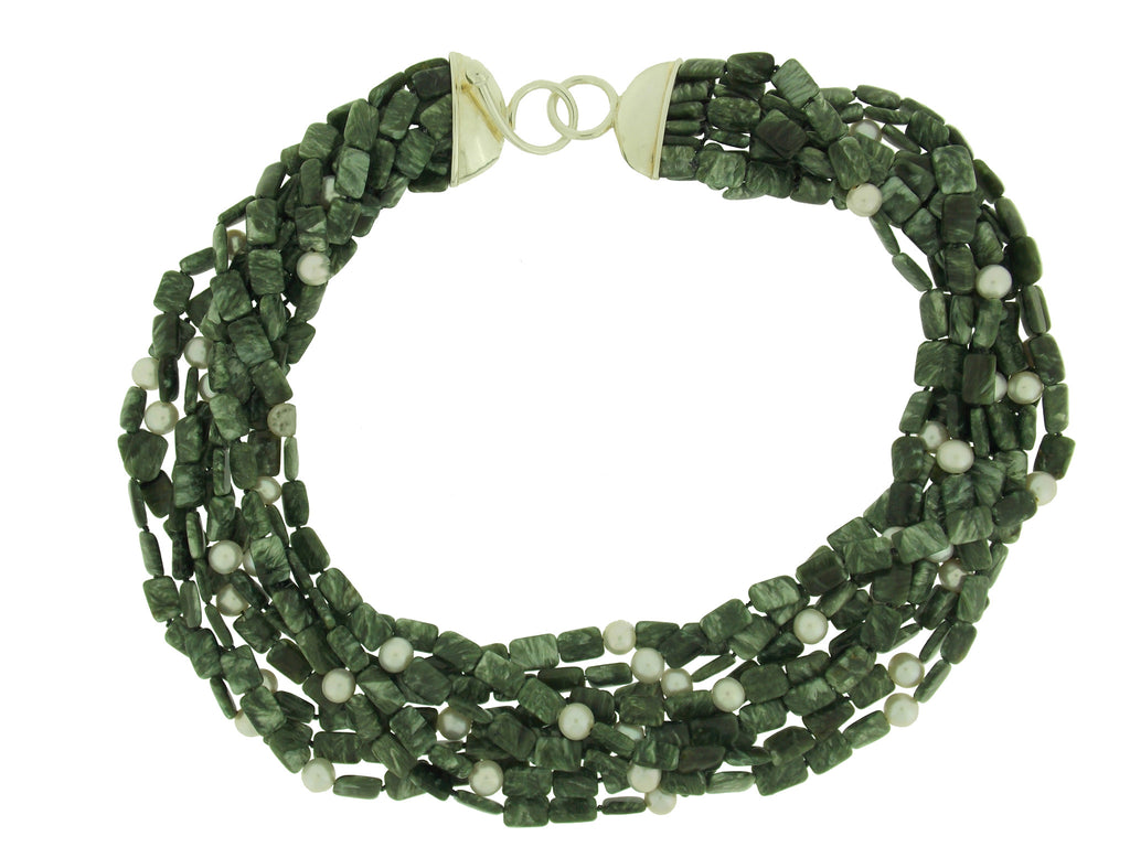 Seraphinite Multi Strand Necklace