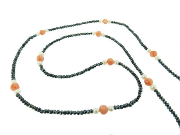 CORAL AND SPINEL NECKLACE