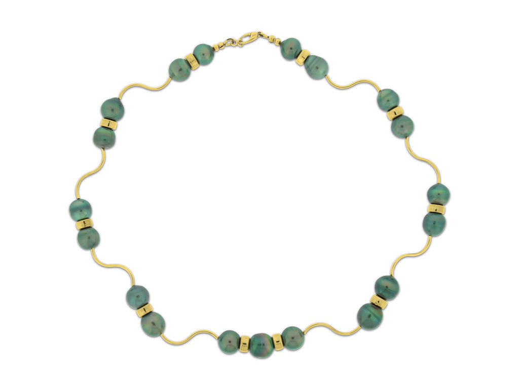 Gold & Tahitian Pearl Necklace