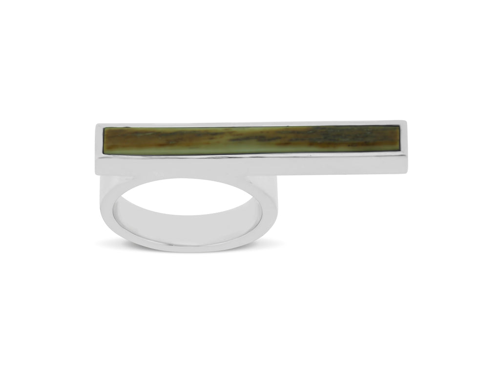Woolly Mammoth Ivory Bar Ring