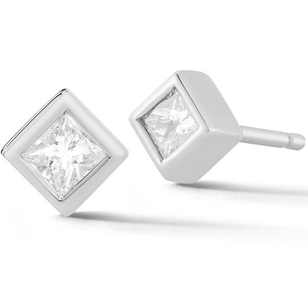 Princess Cut Diamond Earrings