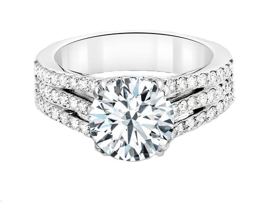 Diamond Triple Split Band