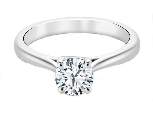 Diamond Solitaire with Diamond Band