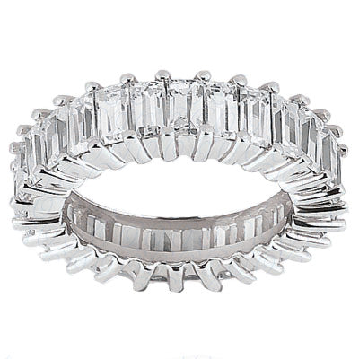 Band of Eternity Emerald Cut Diamonds