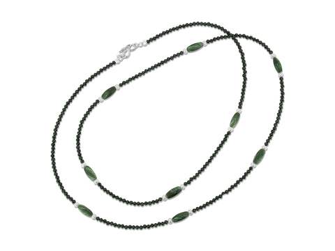 Spinel and Seraphinite Necklace