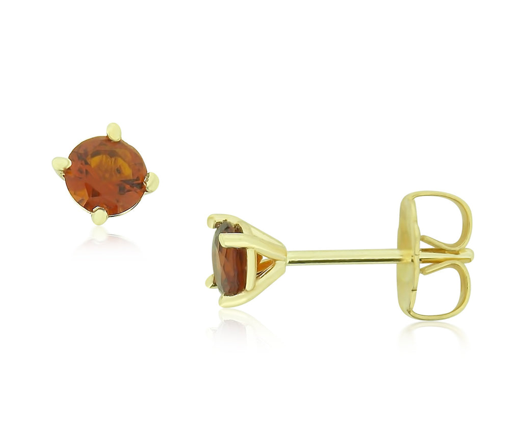 Golden Spessarite Garnet Earrings